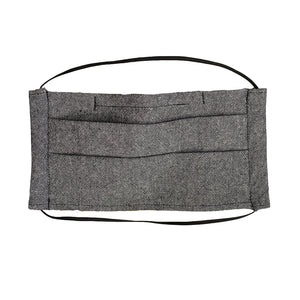 PLEATED FACE MASK - TWEED GREY