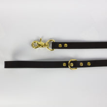 PREMIUM LEASH - BLACK & BRASS