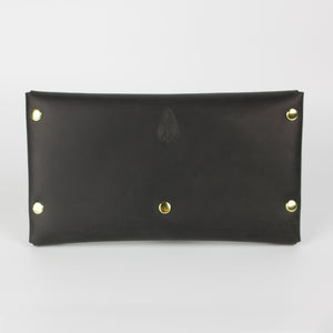 SELENE WALLET CLUTCH - BLACK & BRASS