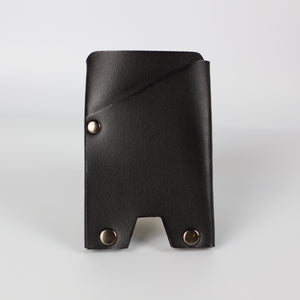 VEGAN ATLAS CARD WALLET - BLACK & GUNMETAL