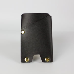 VEGAN ATLAS CARD WALLET - BLACK & BRASS