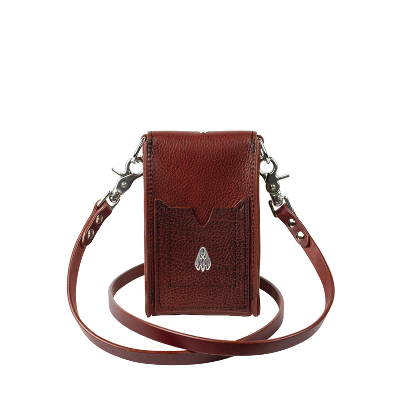 ONE SLING (STUDDED) - Oxblood & Nickel