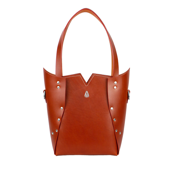PALLAS TOTE - Whiskey and Nickel