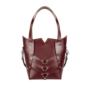 PALLAS TOTE - Oxblood and Nickel