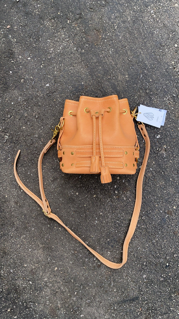 SAMPLE SALE - (Previous Style) THE BANDIT CROSSBODY - Fawn & Brass