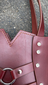 SAMPLE SALE - LITTLE PALLAS - Oxblood and Nickel