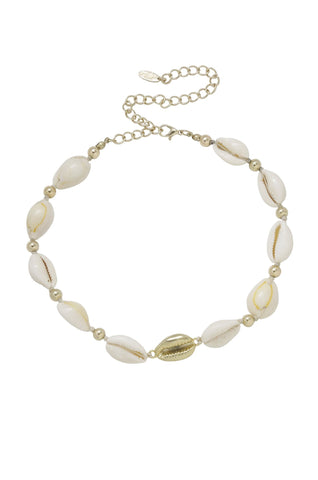 Out to Sea Cowrie Shell & 18kt Gold Plated Necklace