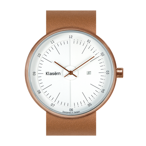 MOT 03 – Rose Gold / Tan Strap