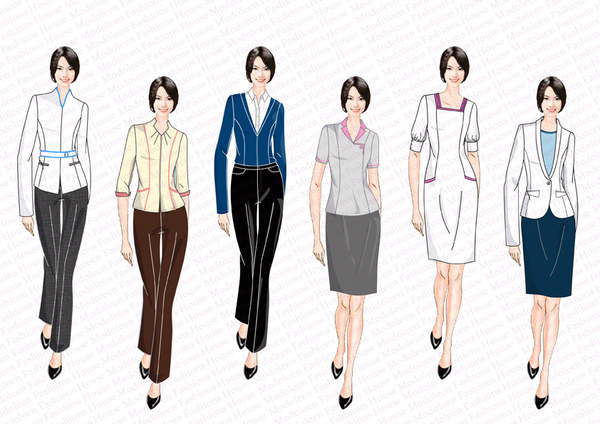 Modoleen corporate uniform design and manufacturing page 2 for Spa uniform singapore