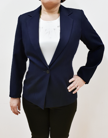 Classic business ladies jacket with notch lapel