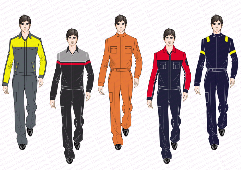 Industrial uniforms for motor companies and factory