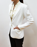 Ladies modern jacket with flat fold out collar