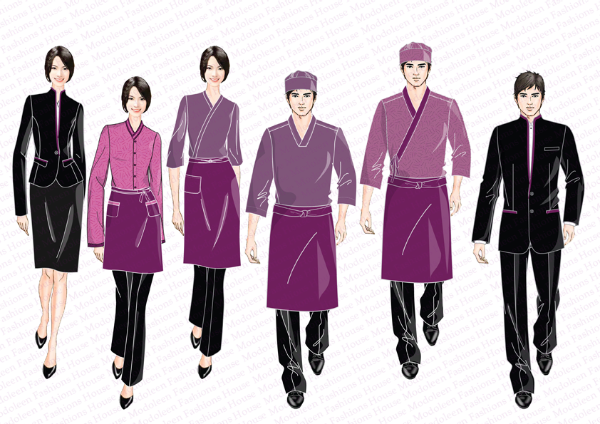 Asian restaurant uniform designs