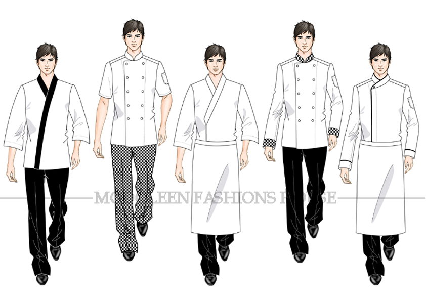 Kitchen Chef uniform designs