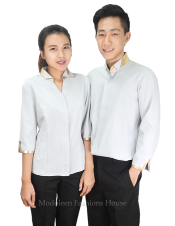Waiter shirt with gold trims