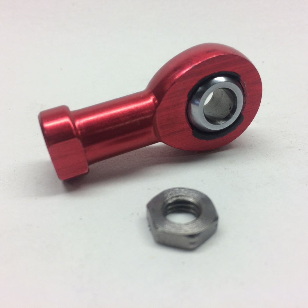 Female Aluminium 2 piece Rod End - Metric 6 Red only