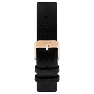 Black - Leather Strap 20mm