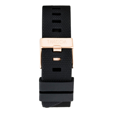 Black - Silicone Strap 22mm