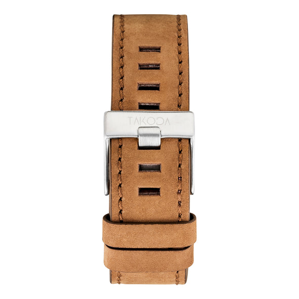 Tan - Leather Strap 22mm