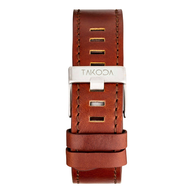 Brown - Leather Strap 22mm
