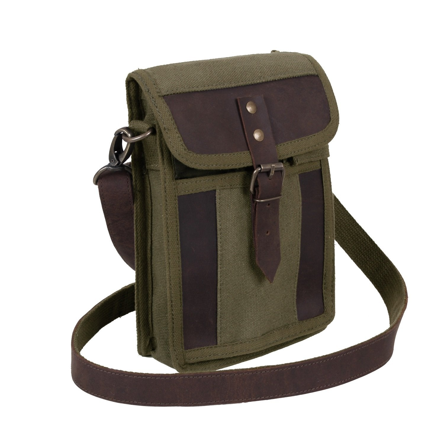 Canvas Travel Portfolio Bag With Leather Accents