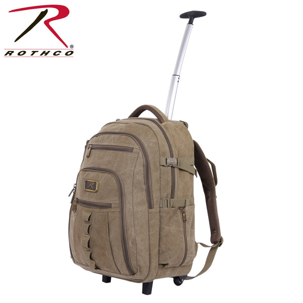 Rolling Canvas Backpack