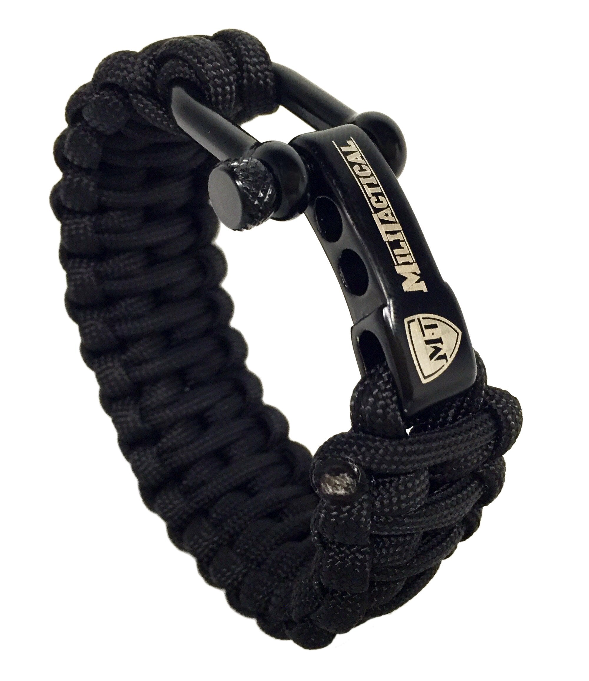 Black Tactical Paracord Bracelet Militactical