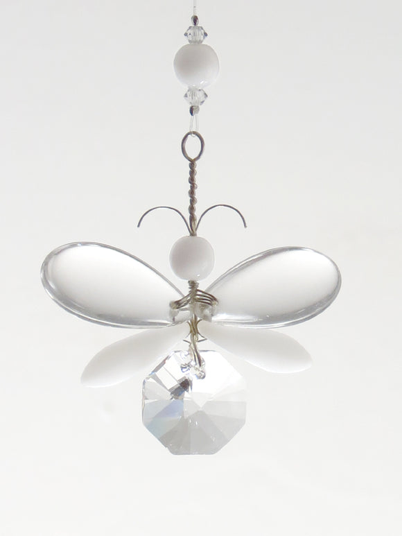 White Angel / Butterfly Ornament Suncatcher