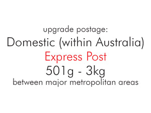 Upgrade Postage: Domestic (within Australia) Express Post 501g - 3kg