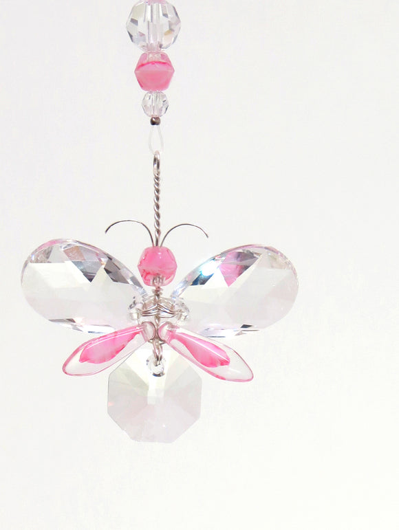 Pink Butterfly Decoration, Gift for her, Girl's Room Decor