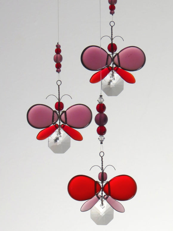 Purple & Red Butterfly Mobile (3 piece)