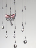 Custom Made Order for Caroline:  Clear Swarovski Crystal Chandelier Mobile with added Dragonflies
