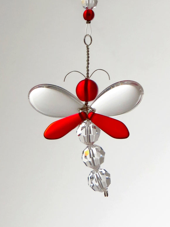 Red Dragonfly Ornament Suncatcher