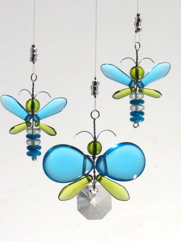 Cyan Blue & Green Butterfly Mobile (4 piece)
