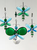 Dark Green & Blue  Butterfly & Dragonfly Mobile (6 piece)