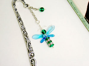 Dark Green & Blue Firefly / Bee Bookmark