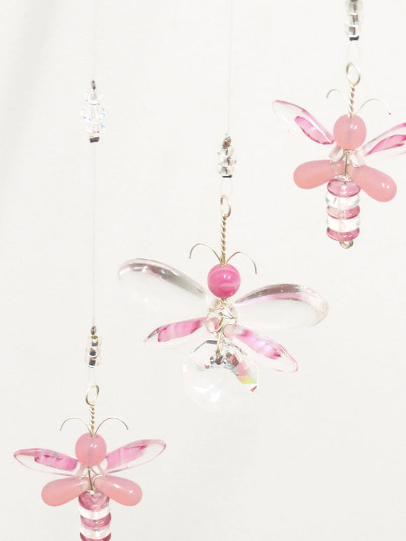 Pink Butterfly / Fairy  Mobile (4 piece)