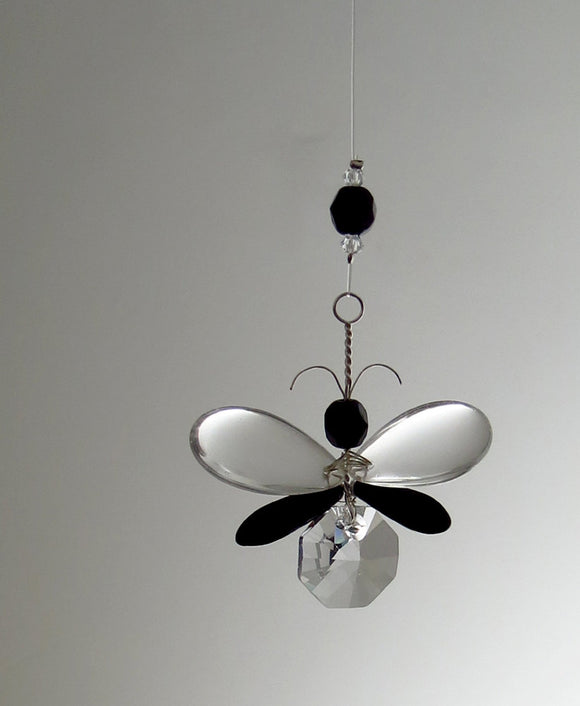 Black Butterfly Suncatcher Ornament