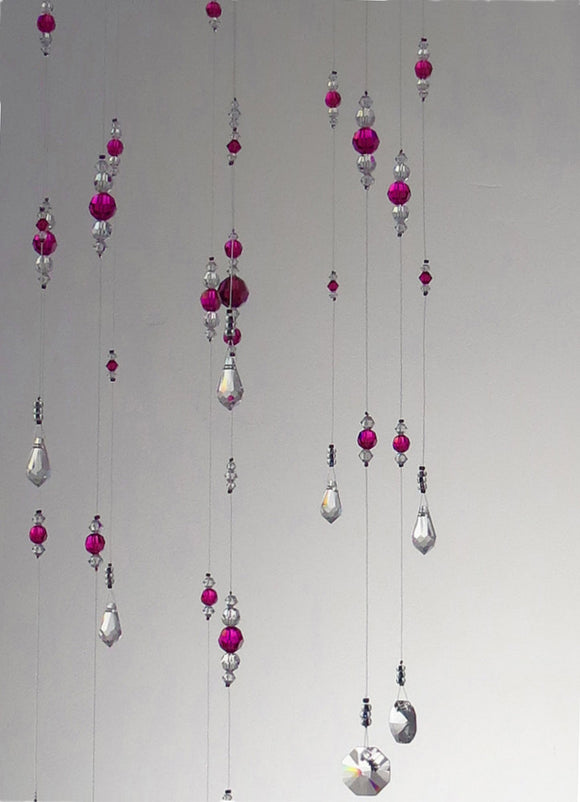 Small: Pink Swarovski Crystal Chandelier Mobile