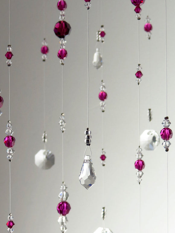 Medium: Pink Swarovski Crystal Chandelier Mobile