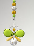 Green & Golden Yellow Butterfly / Angel Suncatcher Decoration