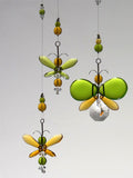 Green & Golden Yellow Butterfly & Firefly Mobile (4 piece)