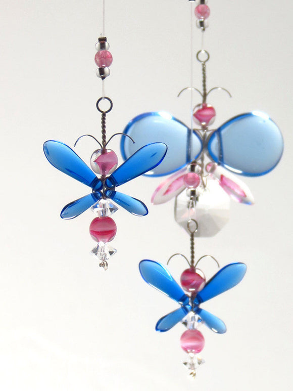 Pink & Blue Butterfly & Fairy Mobile (4 piece)