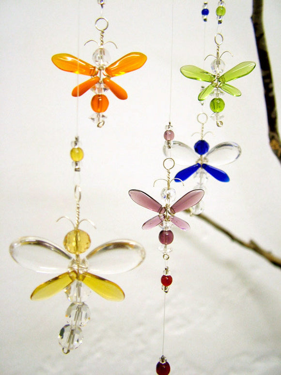 Rainbow Dragonfly & Firefly Mobile (6 piece)