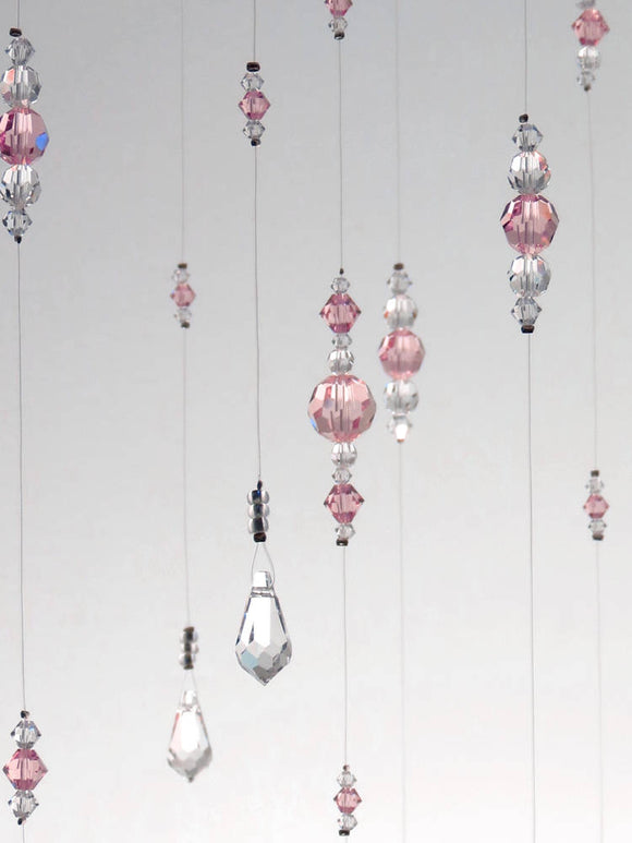 Small: Light Pink Swarovski Crystal Chandelier Mobile
