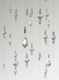 Extra Large: Clear Swarovski Crystal Chandelier Mobile Suncatcher with White Flowers