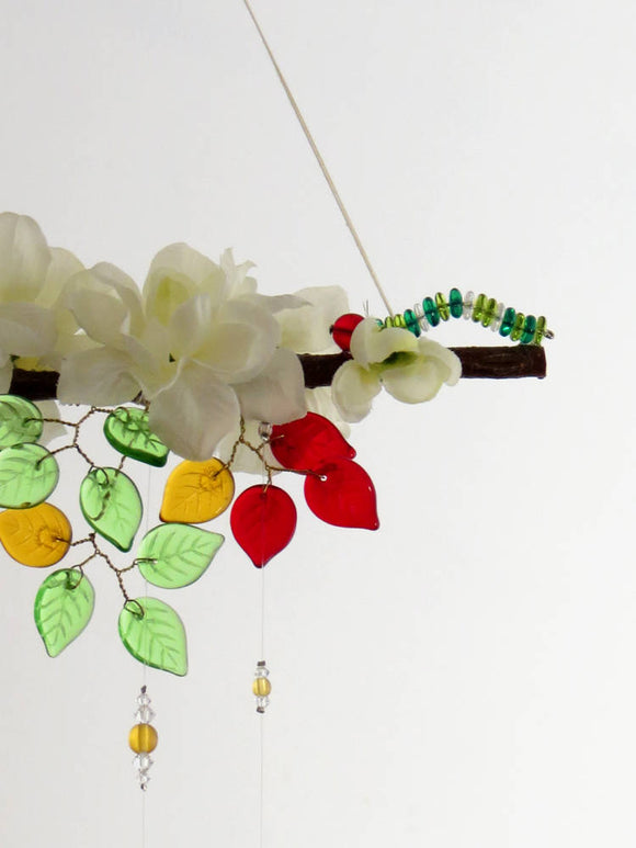 Hungry Caterpillar Inspired Garden Mobile Suncatcher