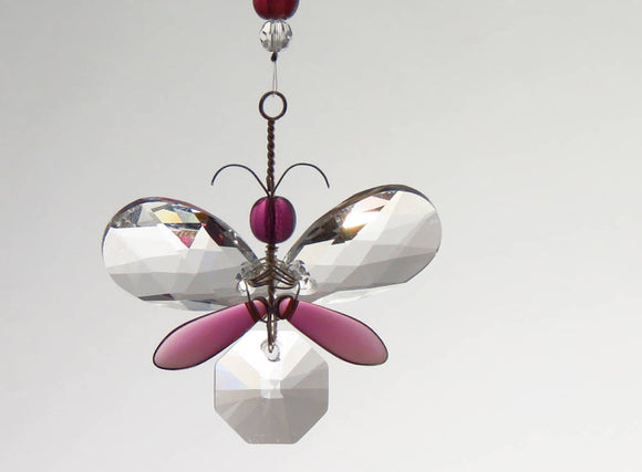 Purple Butterfly / Fairy Suncatcher Decoration