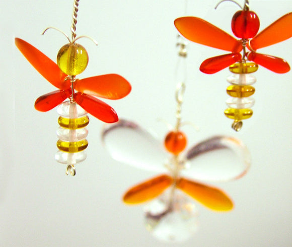 Orange & Golden Yellow Firefly Mobile (3 piece)