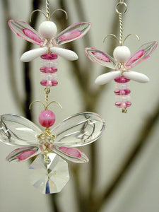 Pink & White Butterfly / Fairy Mobile (3 piece)